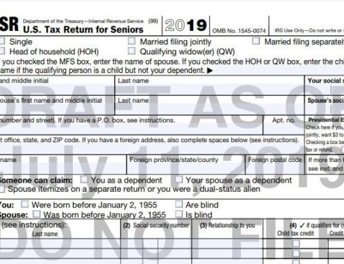 Seniors Get a New Simplified Tax Form for 2019